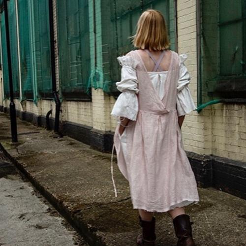 Lemuel MC Rosalind linen dress pink