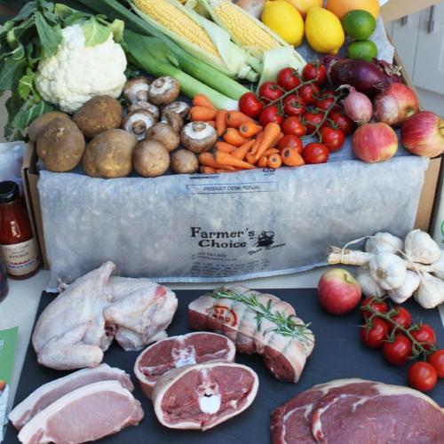 Farmers Choice grocery box