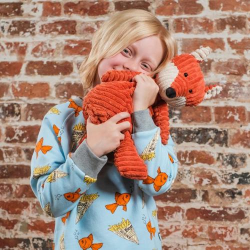 Boy Wonder Fish and Chips UK-made childrens Sweatshirt