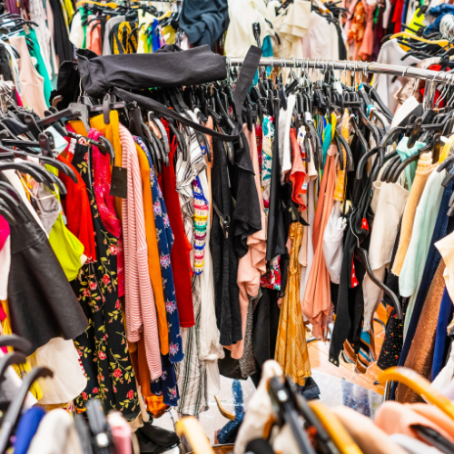 Fast fashion mass clothing waste