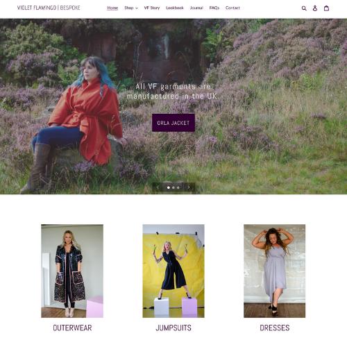 Violet Flamingo Bespoke new website
