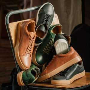 Billy Tannery and Goral premium British-made leather sneaker