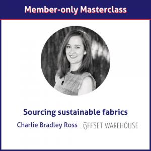 Sustainable fabrics and avoiding greenwashing Charlie Bradley Ross Offset Warehouse