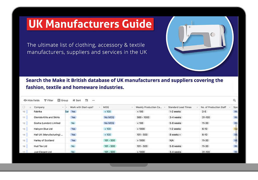 UK Manufacturers Guide
